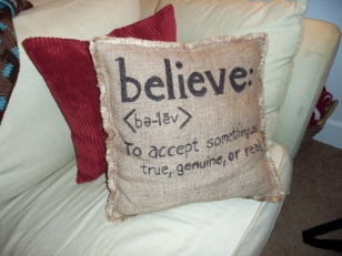 I made this pillow last year