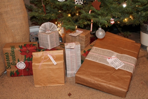 Brown paper packages tied up with string, these are a few of my favorite things!