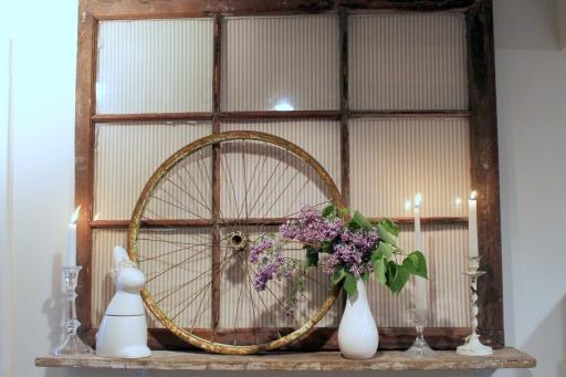 "My spring ""mantle"" shelf"