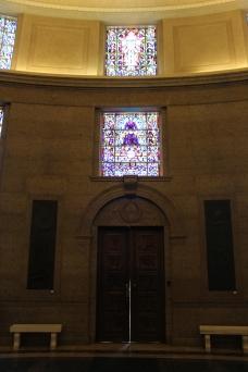 Those doors were solid metal (bronze?)