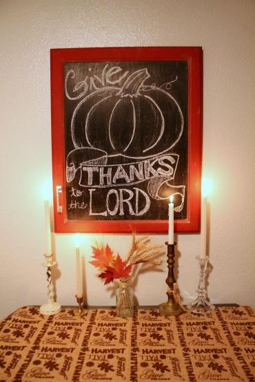 Last Year's Thanksgiving table Decor