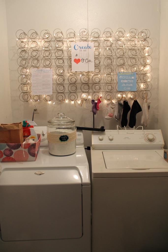 My tiny laundry room!