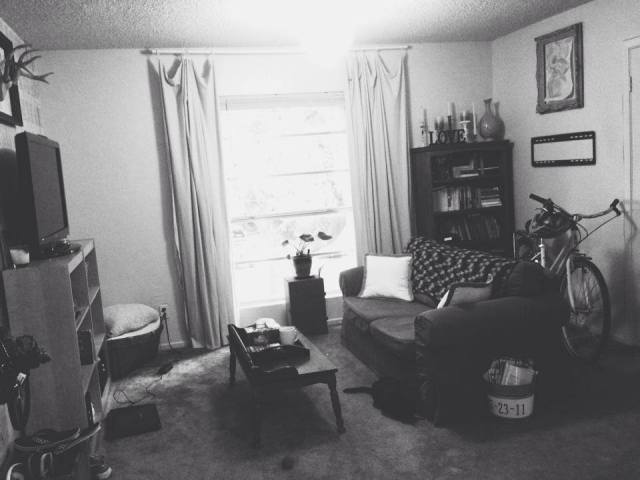 This is what my living room looks like today. It's messy, lived in, and not perfect. But it's cozy, safe, it's home and that's beautiful.